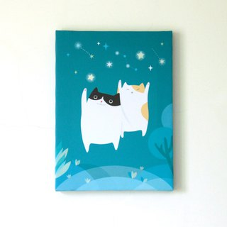 Star Cat Painting Frameless Art Clay