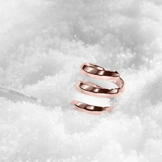 Spiral Promise Ring for Her, Rose Gold Dipped 925 Sterling Silver Ring for Women