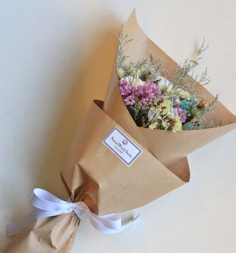 馬卡龍小香氛索拉乾燥花束