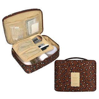 MPL-Travel storage pattern portable universal bag cosmetic bag - leopard brown, MPL24697