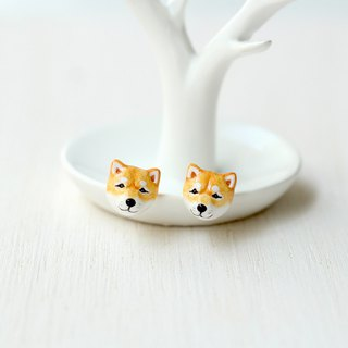 Shiba Inu Dog earrings, Dog Stud Earrings, dog lover gifts
