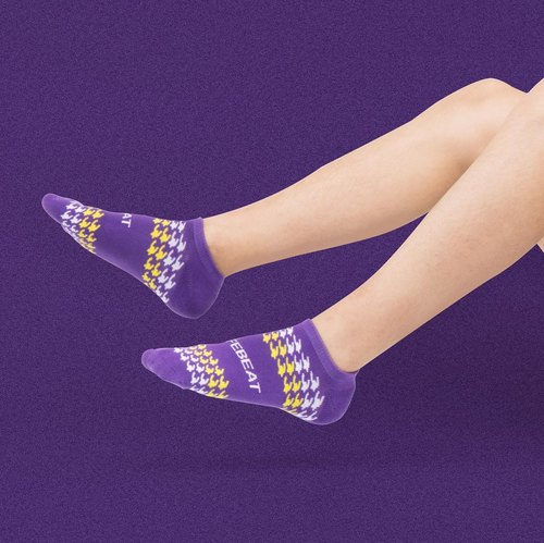 【Neo-classic Collection】Midnight Houndstooth Sports Ankle Socks