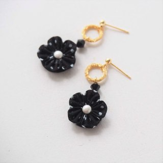 Chic Ring and Flower Earrings Clip-on 14KGF, S925 custom