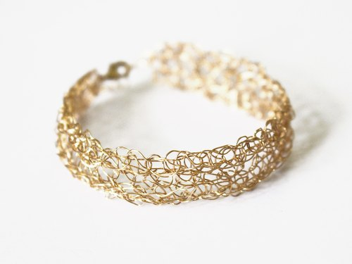 24K GOLD KNITTED BRACELET