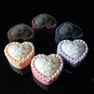 Rose Pillow Heart shape scented handmade soaps