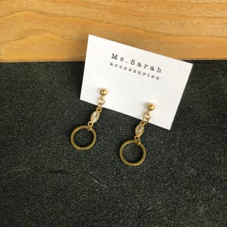 Brass earrings _ French retro (can be changed)
