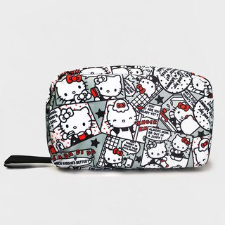 Murmur travel storage tri-fold wash bag - Hello Kitty comics