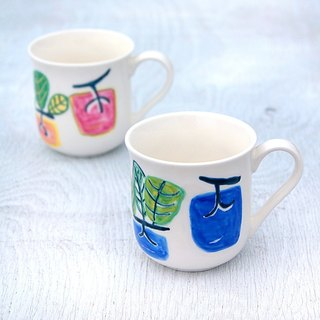 Blue persimmon mug cup