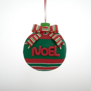 NOEL round Christmas ornaments