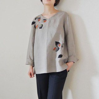 Long-sleeved blouse <Konoha>
