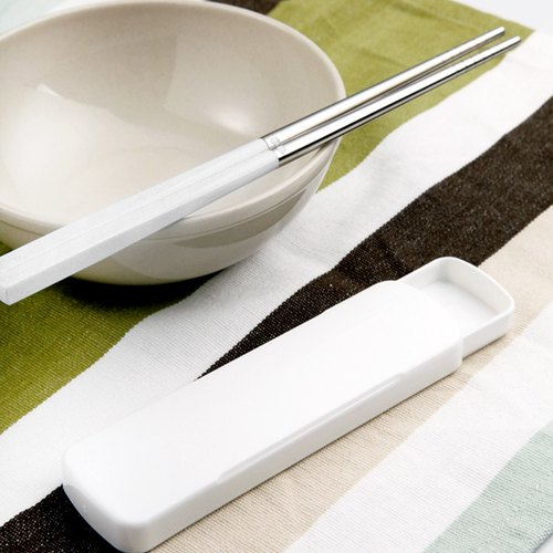 Taiwan first chopsticks ✦ composite double chopsticks ✦ simple white ✦ with chopsticks box