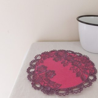 Four seasons'  embroidered coasters:Winter-----Plum Blossom