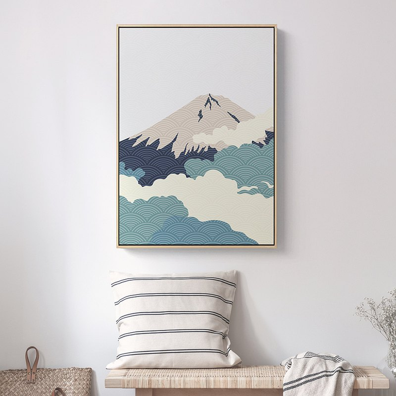 Fuji I-home decor, wall arts,Nordic paintings,Interior Design,hostel,mountain