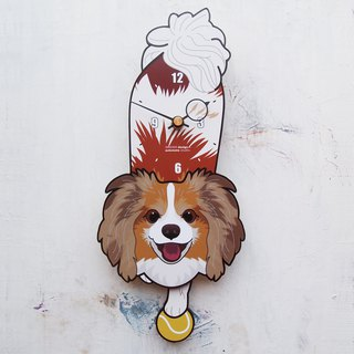 D-63 Papillon dog - Pet's pendulum clock