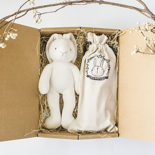 my little star - mini rabbit two love is organic cotton gift box