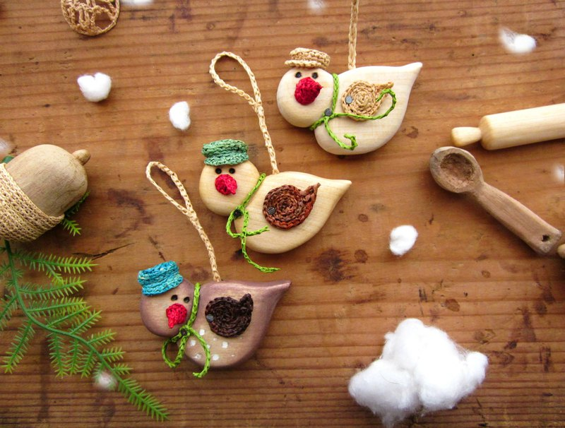 Christmas tree ornaments Wooden birds, Wood carving