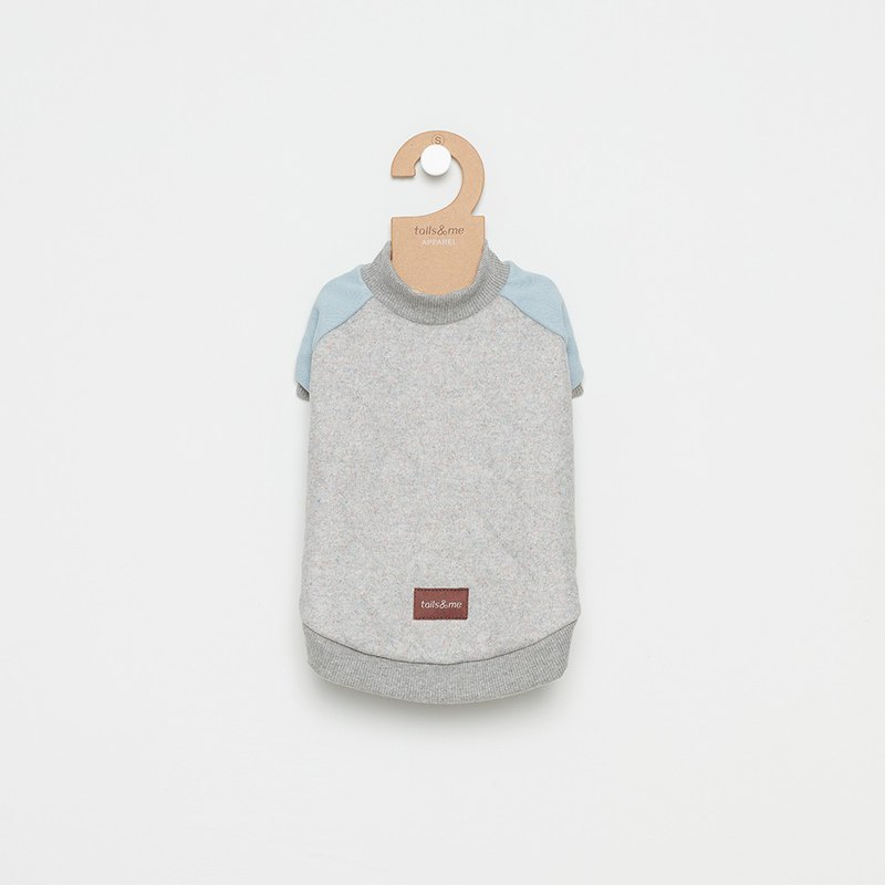 [Tail and me] pet clothes baseball jacket gray blue