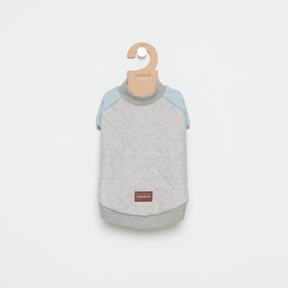 [Tail and me] pet clothing baseball jacket gray blue