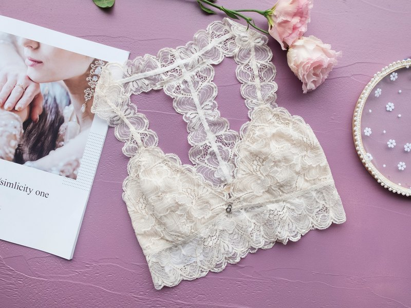 [June New Products] 缪思·All Lacey Beauty Back No Steel Ring Underwear ・Taiwanese