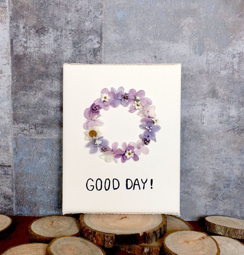 GOOD DAY | Non-withered wreath. Dry flowers. Picture frame. birthday present. Home layout