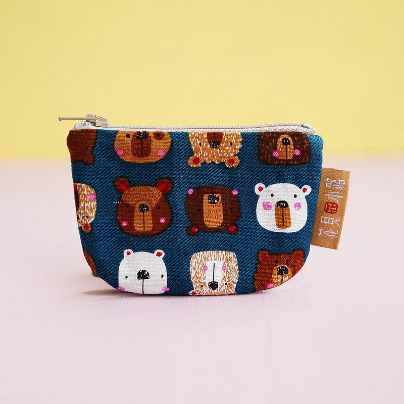 Good baby new year gift pocket money to develop a half-month coin purse blazing expression blue