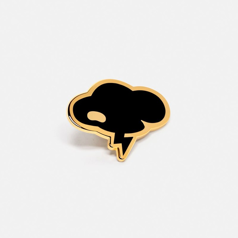 Cloud: Coco Black Lapel Hat Pin