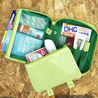 Mizutama beauty Travel cosmetics pouch with detachable pockets - Green