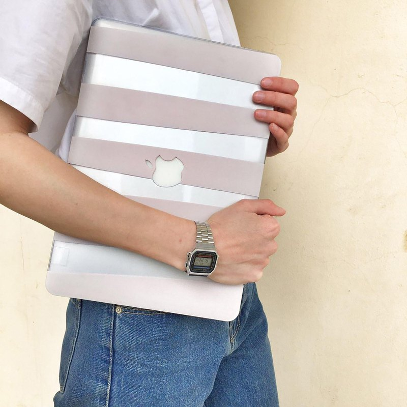 NUDE STRIPES Macbook 12 case, MacBook Air 13 case, MacBook Pro 13 case, MacBook