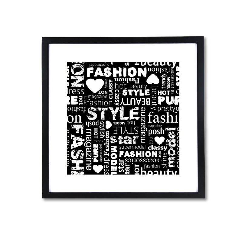 HomePlus Decorative Frame - Fashion Series Black 43x43cm Homedecor