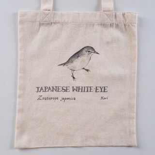 Pure hand-painted bird cotton shopping bag ‧