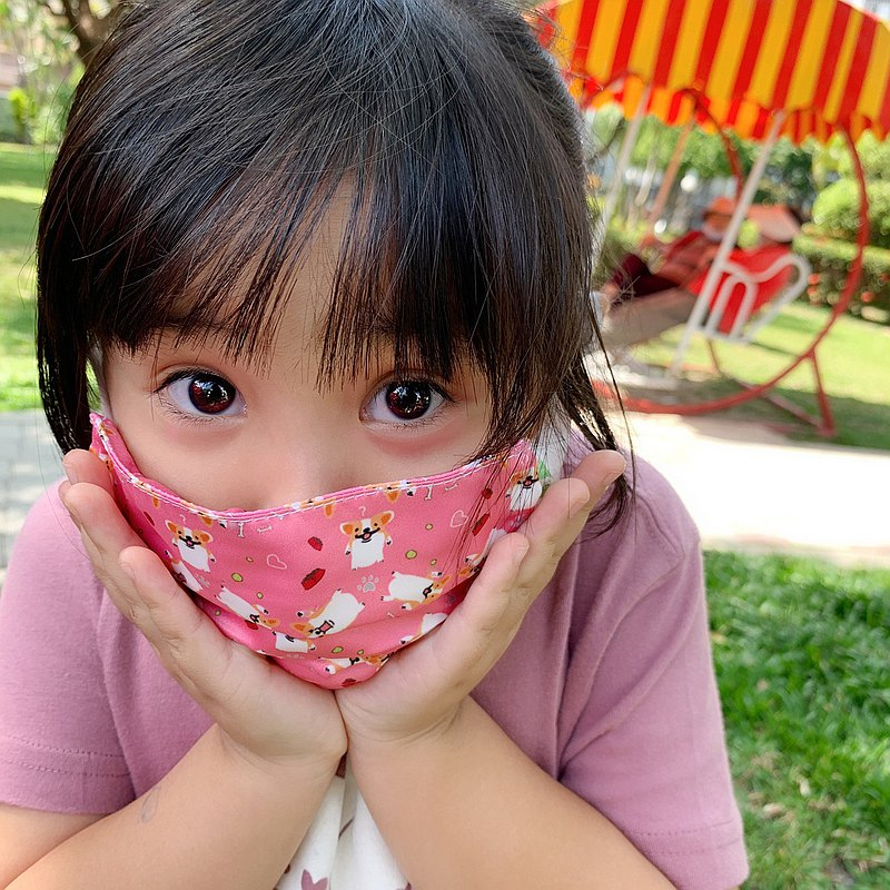 兒童口罩套(粉紅)