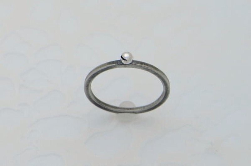 smile ball piko ring_3 ( s_m-R.44) 微笑 笑 銀 環 戒指 指环 疊環 jewelry sterling silver