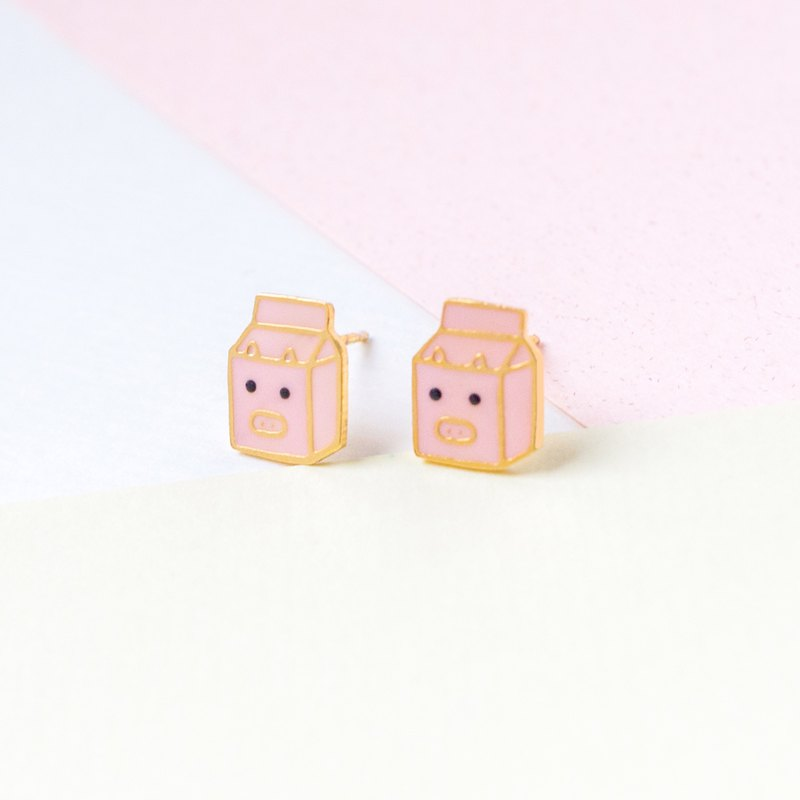 Piglet Milk Box Animal Milk | Handmade Earrings