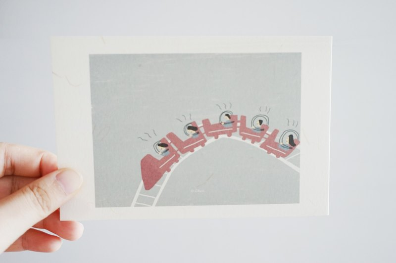 Roller Coaster-Friends- Postcard/card