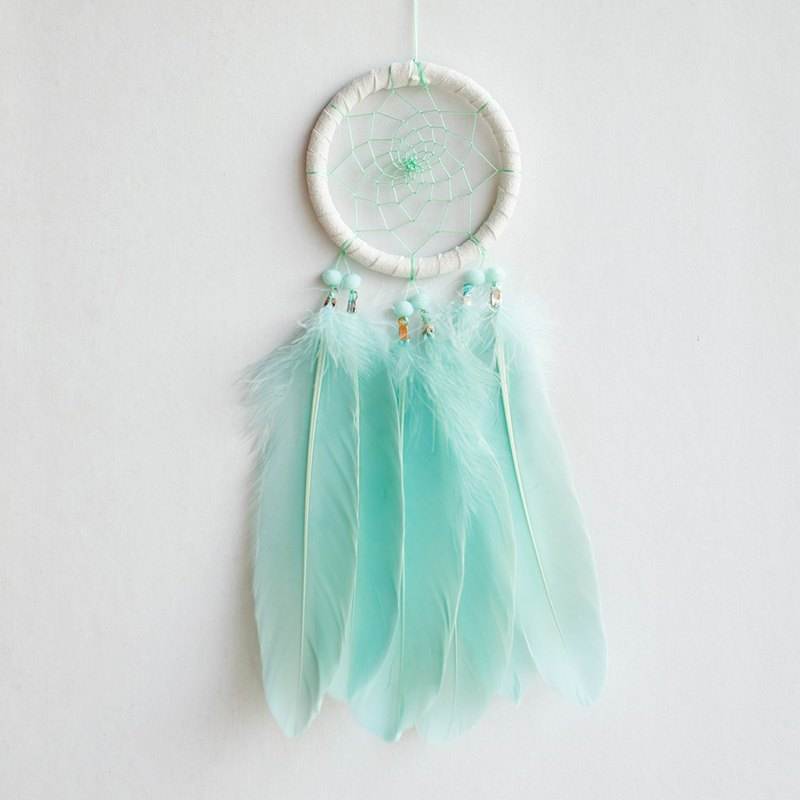 Simple Mint Green-Dream Catcher 8cm-Birthday Gift, Valentine's Day Gift, Home Decor
