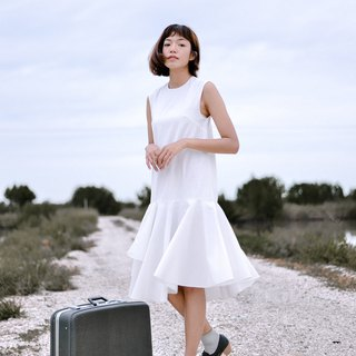 Mani Mina White Mini Dress Frill Skirt