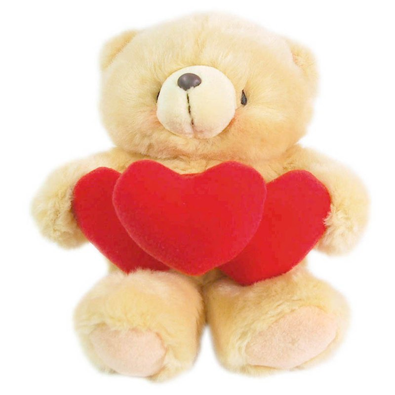 8 inch / love hug hairy bear [Hallmark-ForeverFriends hair - Valentine's Series]