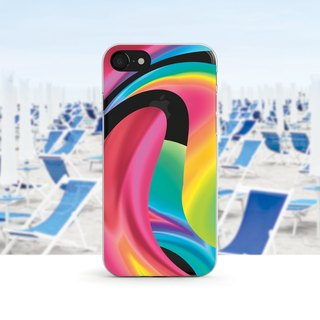 Twisted Rainbow - Transparent soft shell - iPhone X, iPhone 8, iPhone 7, iPhone 7, iPhone 6, iPhone SE, Samsung