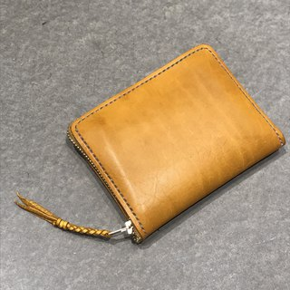 Handmade hand-dyed leather extended multi-purpose wallet