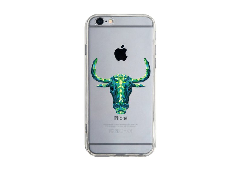 3D立體牛 iPhone 三星 Samsung 透明手機軟殼 3D Bull Phone case Custom Print Transparent Soft
