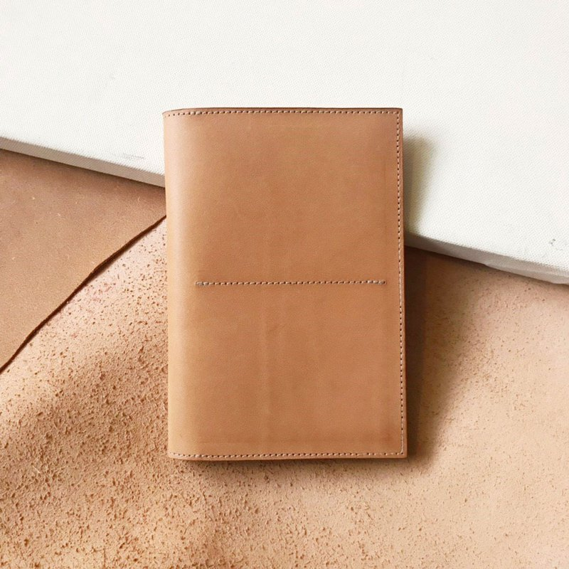 Passport cover _ minimal version _4 compartment _ double card layer _ light brown