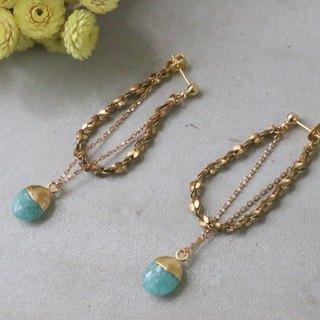Tianhe stone brass earrings 1089 reunion