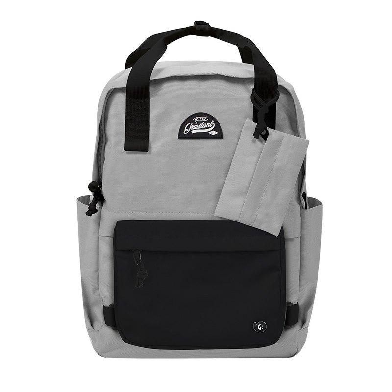 Grinstant混搭可拆組式15.6吋後背包 - 黑白系列 (灰色配黑色)