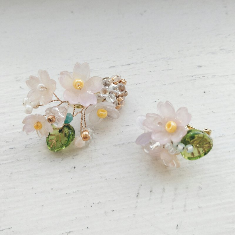 Momolico peaches can be earrings not lining cherry earrings clip-on