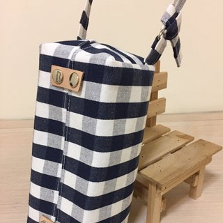 Can be hanging _ _ _ _ bagged removable paper cover _ blue and white plaid leather decoration (neutral Indian style)