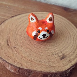 Raccoon clay animal magnet