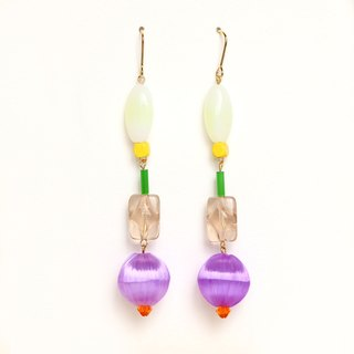 birthday party beads earrings / earrings