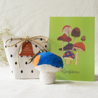 Confidence - a firm mushroom keychain postcard Christmas gift set