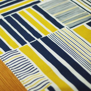 Reduce the simple tablecloth / big long towel tin house yellow blue