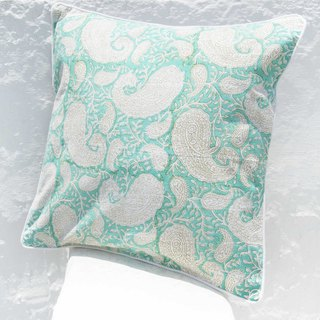 Handmade Woodcut Embracing Pillowcases Cotton Pillowcases Handmade Embroidered Pillowcases - Indian Romantic Vine Flowers